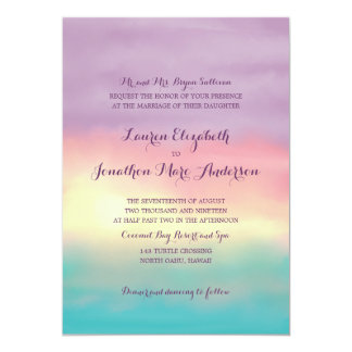 Sunset Romance | Wedding Card