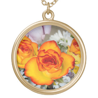 Sunset Roses Necklace