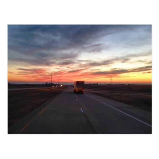 Sunset Route 66 Shamrock Texas USA Postcard