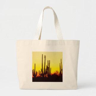 Sunset Saguaro Cactus Arizona Tote Bag