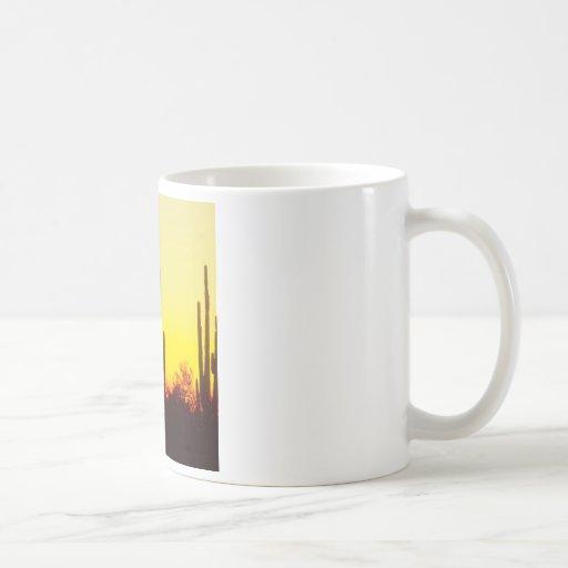 Sunset Saguaro Cactus Arizona Mug