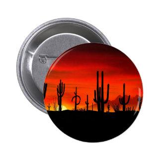 Sunset Saguaros Sonoran Desert Arizona Button