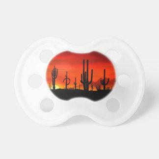 Sunset Saguaros Sonoran Desert Arizona Pacifiers