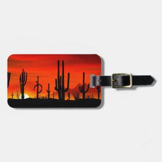 Sunset Saguaros Sonoran Desert Arizona Tag For Bags