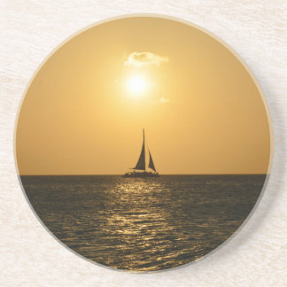 Sunset Sail Beverage Coasters