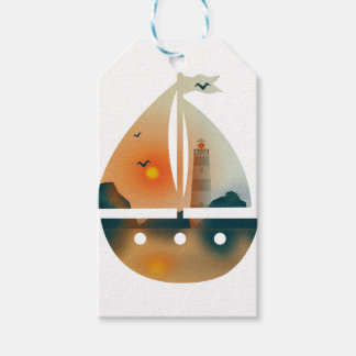 Sunset_sail boat gift tags