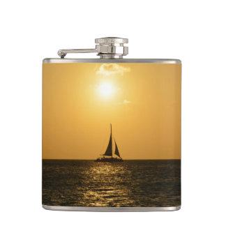 Sunset Sail Hip Flask