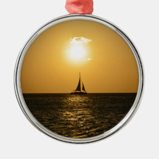 Sunset Sail Metal Ornament
