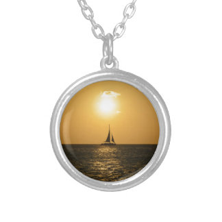 Sunset Sail Silver Plated Necklace