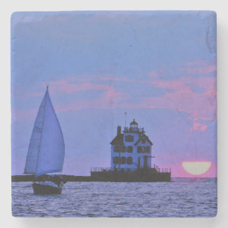 Sunset Sail Stone Coaster