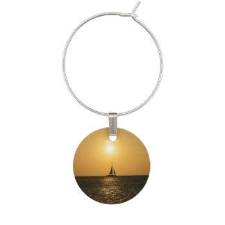 Sunset Sail Wine Charms