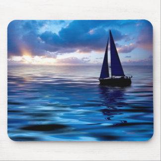 Sunset Sailboat Sailing in the Ocean Mousepad