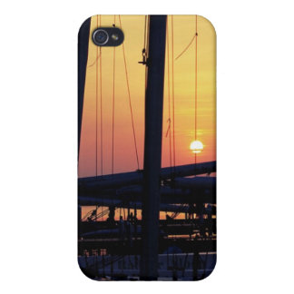 Sunset & Sailboats Covers For iPhone 4
