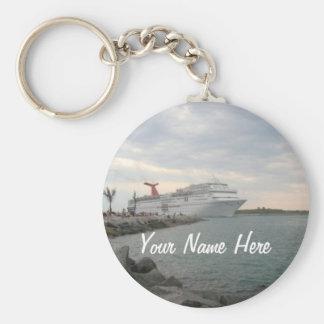 Sunset Sailing Pretty Personalized Key Ring
