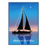 Sunset Sails with Holiday Lights Custom Announcement