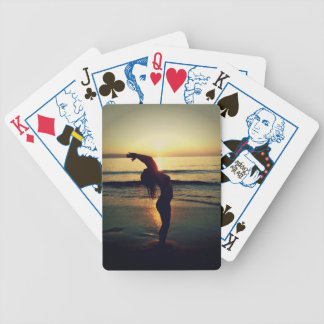 Sunset Salutation Bicycle Playing Cards
