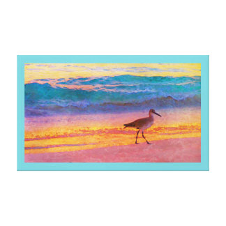 Sunset Sandpiper Canvas Print