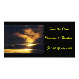 Sunset Save the Date Photo Card