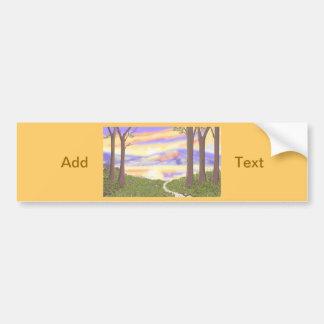 Sunset Scene cards Customize Product Bumper Stickers
