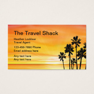 Sunset Scenic Travel Agency Design Business Card