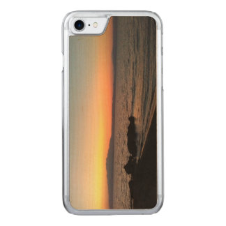 Sunset Sea Apple iPhone 7 Slim Maple Wood Case