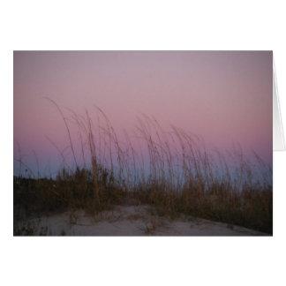 Sunset Sea at Sullivan's Island, SC Card