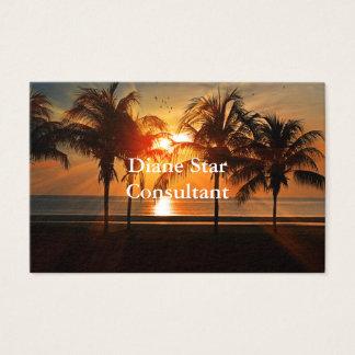 Sunset Sea Design Business Card
