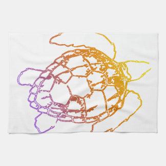 Sunset Sea Turtle Tea Towel