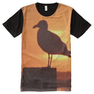 Sunset seagull All-Over print T-Shirt