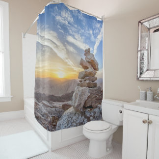 sunset serenity shower curtain