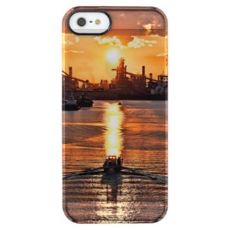 Sunset Ship Clear iPhone SE/5/5s Case