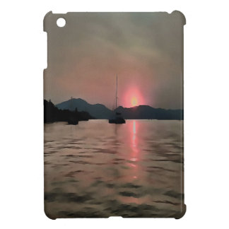Sunset Shores In Pink And Grey iPad Mini Cases