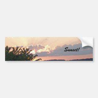 Sunset Silhouette Car Bumper Sticker