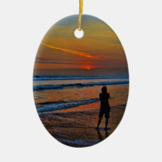 Sunset Silhouette Christmas Ornament