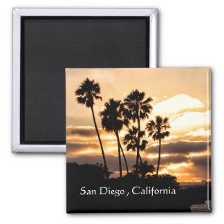 Sunset Silhouette In San Diego Magnet