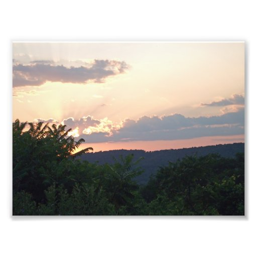 Sunset Silhouette Photo Print