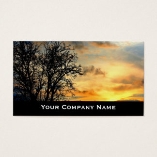 Sunset Silhouettes Landscape Business Cards