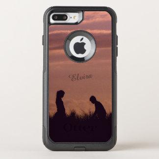 Sunset Silhouettes Nostalgic Photo Custom Name OtterBox Commuter iPhone 8 Plus/7 Plus Case