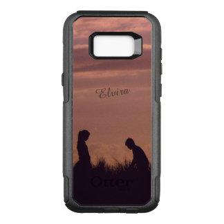 Sunset Silhouettes Nostalgic Photo Custom Name OtterBox Commuter Samsung Galaxy S8+ Case
