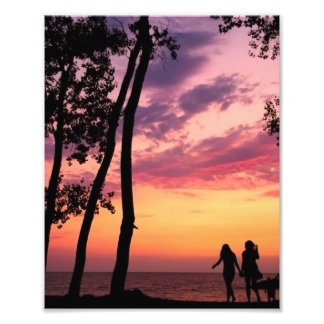Sunset Silhouettes Photograph