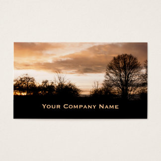 Sunset Silhouettes trees  Business Cards