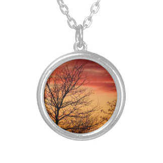 sunset silver plated necklace