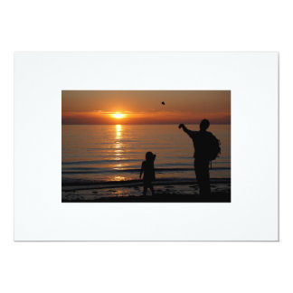 Sunset Skimming 13 Cm X 18 Cm Invitation Card