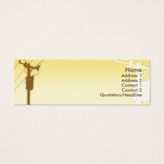 Sunset - Skinny Mini Business Card