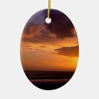 Sunset Sky Carpinteria California Ceramic Ornament