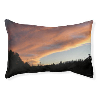 Sunset Sky Dog Pillow