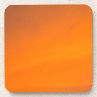 Sunset Sky Orange Abstract Art Plastic Coasters