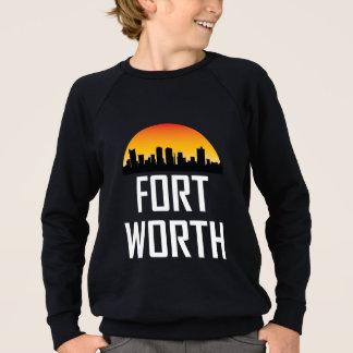 Sunset Skyline of Fort Worth TX Sweatshirt