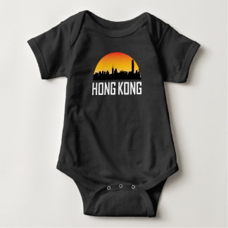 Sunset Skyline of Hong Kong China Baby Bodysuit