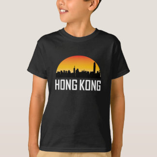 Sunset Skyline of Hong Kong China T-Shirt